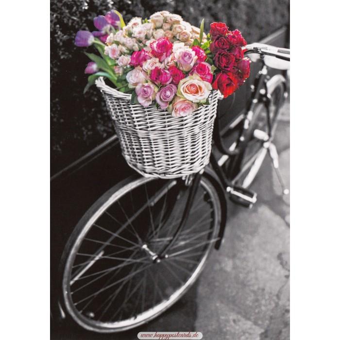 POSTKARTEN | Kontraste | Fahrrad mit bunten Blumen - Kontraste ...