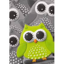 Green Owl - Postcard