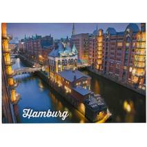 Hamburg - Illuminated Speicherstadt - Viewcard