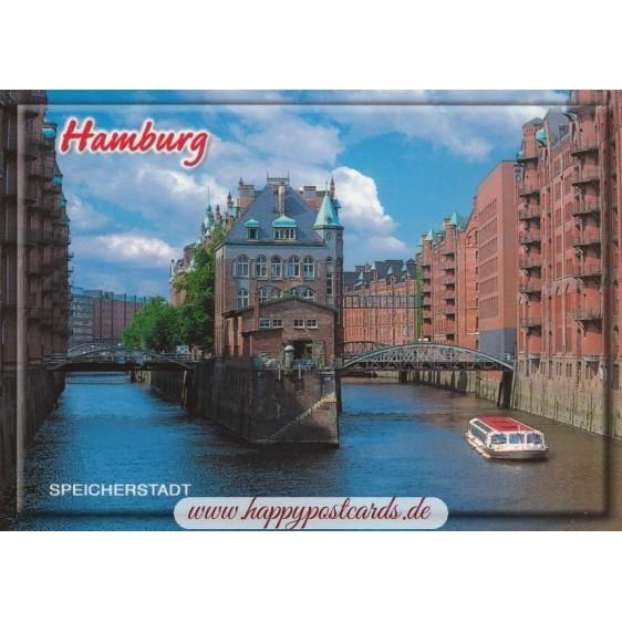Hamburg - Speicherstadt 3 - Ansichtskarte
