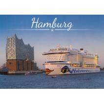 Hamburg - AIDA and Elbphi - Viewcard