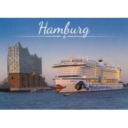Hamburg - AIDA and Elbphi - Viewcard