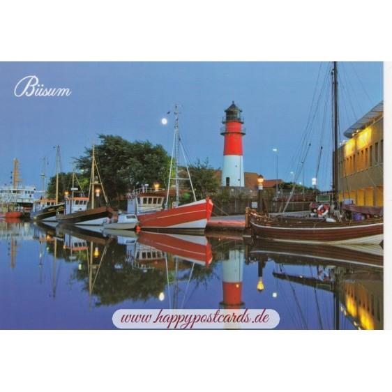 Büsum - Harbour - Viewcard