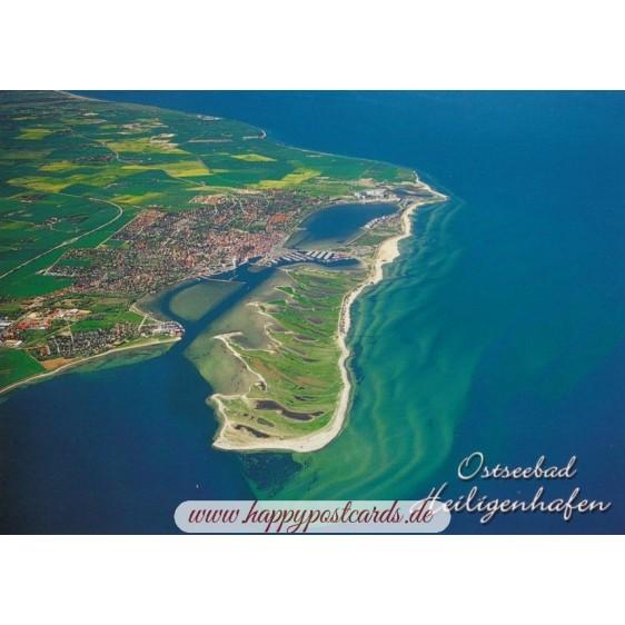 Ostseebad Heiligenhafen - Luftaufnahme - Ansichtskarte