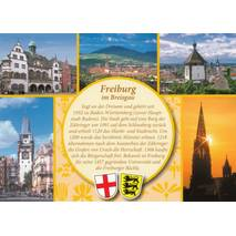 Freiburg - Yellow Chronicle - Viewcard