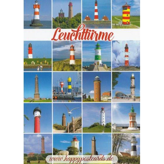 Lighthouses in Northern Germany - Viewcard