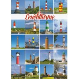 Leuchttürme in Norddeutschland - Ansichtskarte