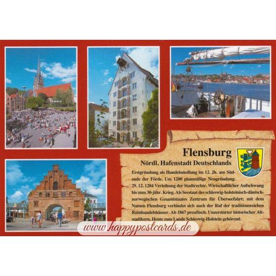 Flensburg - Chronicle - Viewcard