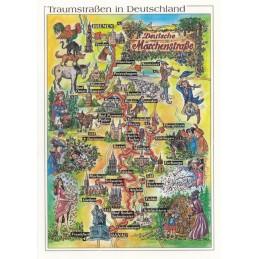 Deutsche Märchenstraße - Map - Postkarte