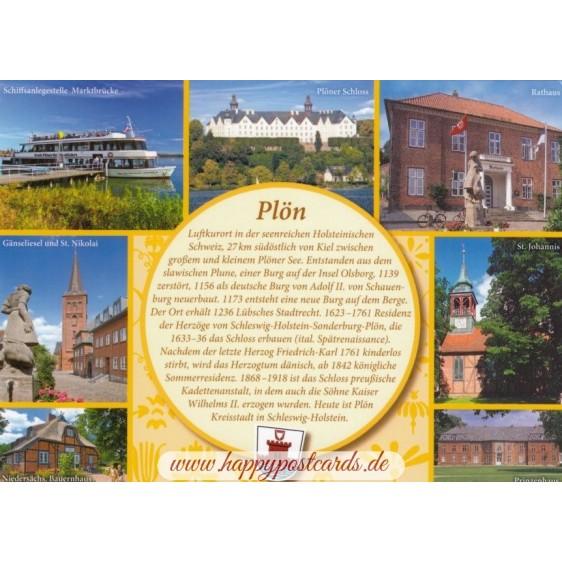 Plön - Yellow Chronicle - Viewcard