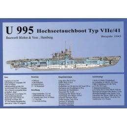 U 995 Hochseetauchboot - Viewcard