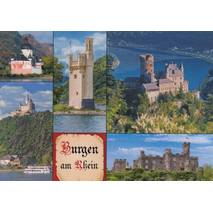 Castles at the Rhine - Viewcard