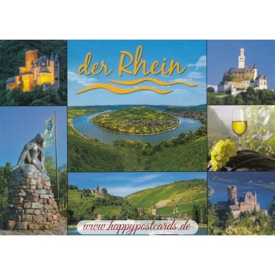Rhine - Castles and Loop - Viewcard