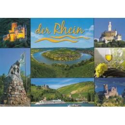 Der Rhein - Burgen und Schleife - Ansichtskarte