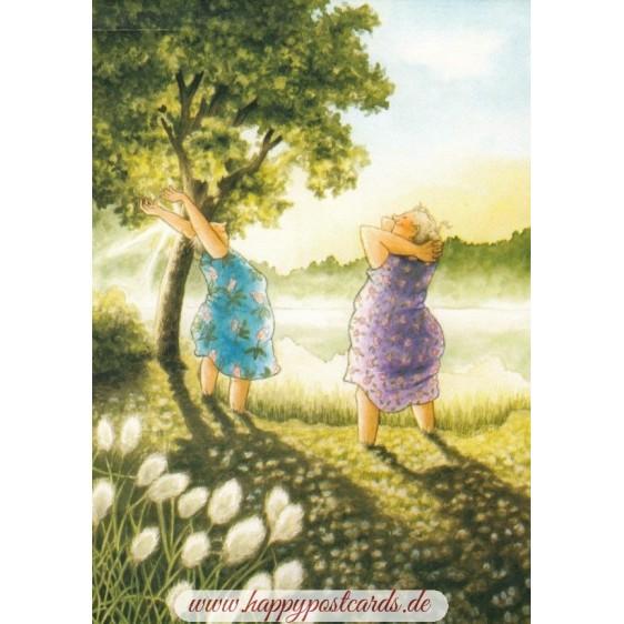 63 - Frauen grüßen die Sonne - Löök Postkarte