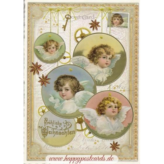 Fröhliche Weihnachten - Angels - Tausendschön - Postcard