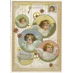 Fröhliche Weihnachten - Engel - Tausendschön - Weihnachtskarte