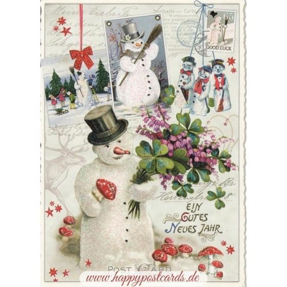 Ein gutes Neues Jahr - Snowmen - Tausendschön - Postcard