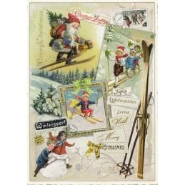 Fröhliche Weihnachten - Wintersport - Tausendschön - Weihnachtskarte