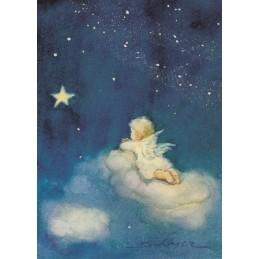 Engelchen auf der Wolke - Weihnachtskarte