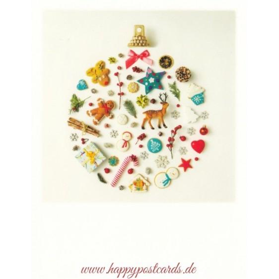 Christbaumkugel - Weihnachtskarte - PolaCard