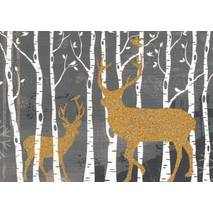 Deers in the Wood - Postcard
