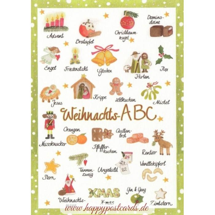 Abc Weihnachtskarten.Weihnachts Abc Weihnachtskarte