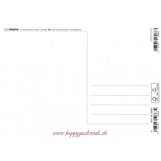 Einhorn - Kontraste-Postkarte