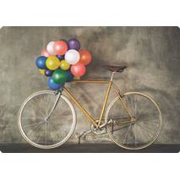Fahrrad mit Luftballons - Medley-Postkarte