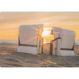 Strandkörbe am Strand - Medley-Postkarte