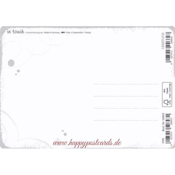 Glaube an Wunder - in touch postcard