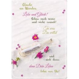 Glaube an Wunder - in touch - Spruchkarte