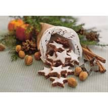 Winterdeco with cinnamon stars - Postcard