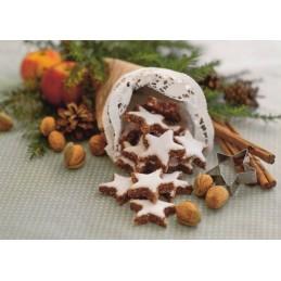 Winterdeko mit Zimtsternen - Weihnachtskarte