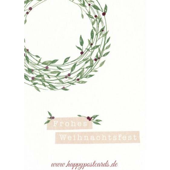 Frohes Weihnachtsfest - Mistletoe - Christmas Postcard