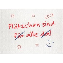 Plätzchen - Weihnachtskarte