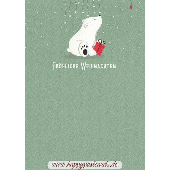 Fröhliche Weihnachten Eisbär - Weihnachtskarte