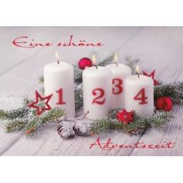 Eine schöne Adventszeit - Weihnachtskarte