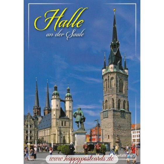 Halle - Marketsquare - Viewcard