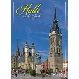 Halle - Marktplatz - Ansichtskarte