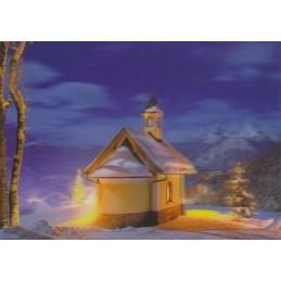 3D Winter greetings - 3D Postcard