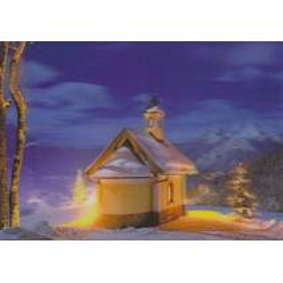 3D Winterliche Grüße - 3D Postkarte