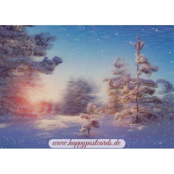 3D Winter greetings 2 - 3D Postcard