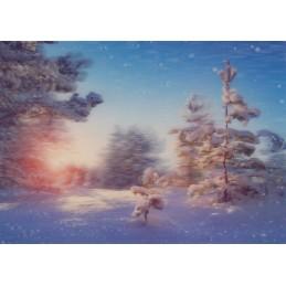 3D Winterliche Grüße 2 - 3D Postkarte