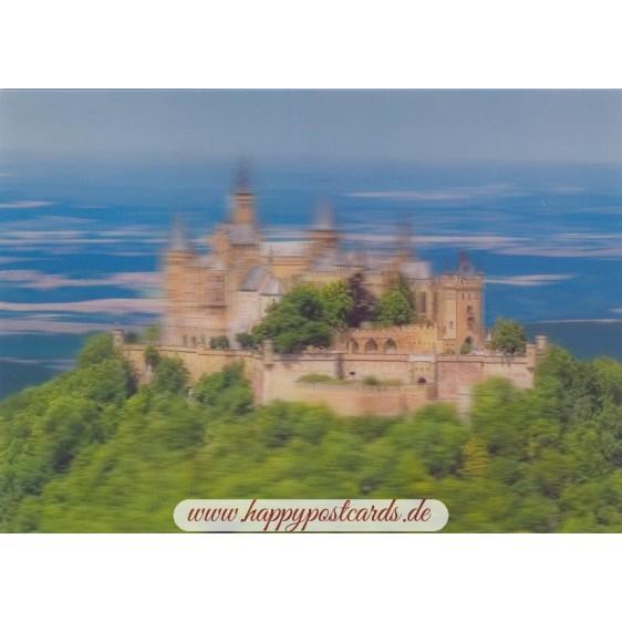 3D Burg Hohenzollern - 3D Postkarte