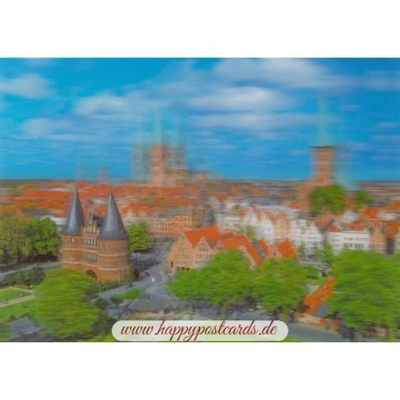3D Lübeck - 3D Postkarte