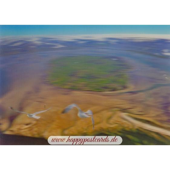 3D Föhr - Luftaufnahme - 3D Postkarte