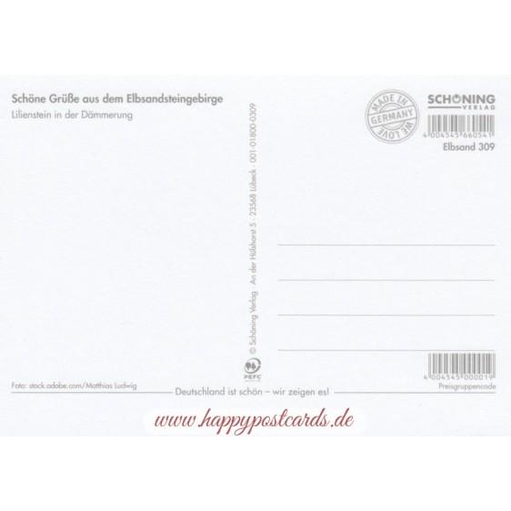 Lilienstein - Postkarte