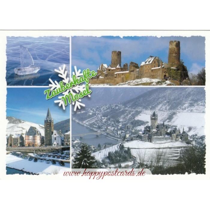 Weihnachtskarten Verlag.Zauberhafte Mosel Ansichtskarte