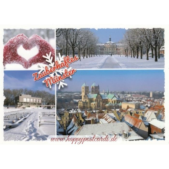 Weihnachtskarten Verlag.Zauberhaftes Münster Ansichtskarte